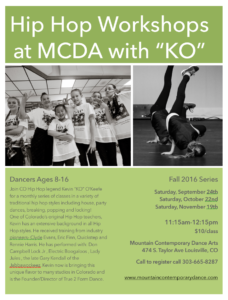 fall hip hop workshops